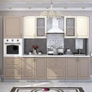 Угловой кухонный гарнитур Модена ваниль/капуччино фото