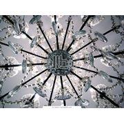 Светильники с хрустальными подвесками фото