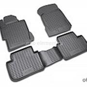 Коврики 3D в салон Ниссан Террано (Nissan Terrano) 2014-, 4х2, полиуретан, черные, Novline CARNIS10047k фото