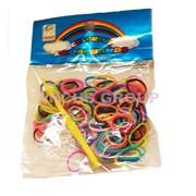 Резиночки разноцветные для плетения Loom Bands фото