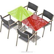 Столы и стулья из нержавеющей стали фото
