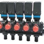 Пятисекционный блок электроклапанов 473 серии с регулировкой обратного потока фото