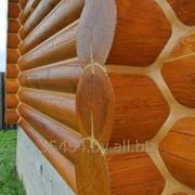 Шлифовка деревынных срубов фото