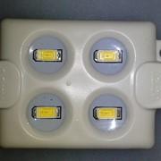 LED Module 4pcs SMD5630, 1.44W,120°,220LM,DC12V,IP65,Green фото