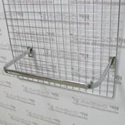 Кронштейн П-образный 550х300мм на сетку, хром, FG114 фото
