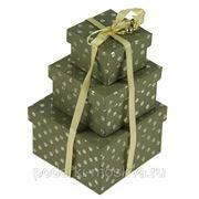 """Комплект коробок из 3шт. """"Горошек"""" 270-014 фото"""