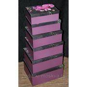 """Комплект коробок из 6шт. """"Орхидея"""" 200-001 фото"""
