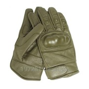 Кожаные тактические перчатки Mil-Tec, олива M фото