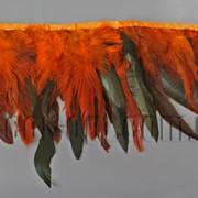 Перо-юбка оранжевая с черными хвостиками 15-20см/48-50см 570823 фото