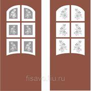 Витражи для межкомнатных дверей DP-45 фото