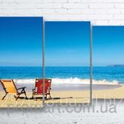 Модульна картина на полотні Морський пляж код КМ100160-001 фото