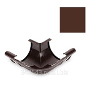 Угол желоба Galeco 152/100 90 градусов коричневый внешний фото