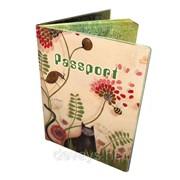 Оригинальная обложка для паспорта Кот в саду фото