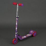 Самокат 466-363 металлический (фиолетовый) фото
