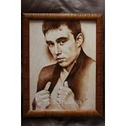 Портрет на заказ по фотографии (выжигание) фото