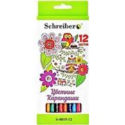 """Карандаш 137718 Schreiber S 0014-12 (137725) набор ( 12 шт./ 12 цв.) пластик """"Совы"""",заточ.(уп.1 шт.) фото"""