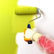 Покраска стен водоэмульсионными красками фото