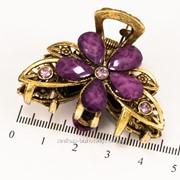 Краб (5 см.) бронзовый с цветными камнями 213276(11) фото