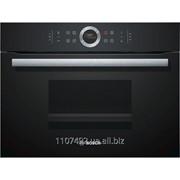 Встраиваемый компактный духовой шкаф Bosch CDG634BB1, черный фото