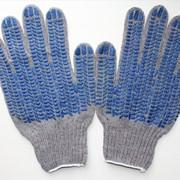 Перчатки рабочие ХБ с покрытием ПВХ-Точка фото