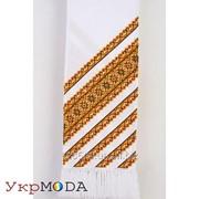 Рушник ручной работы с вышитыми желтыми полосами (МА-0081) фото
