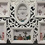 Фоторамка набор из 6 штук арт.1606, белый фото