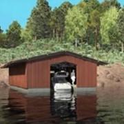 Плавучие гаражи - Гаражи для яхт и катеров на воде. фото