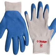 Перчатки Зубр Эксперт рабочие с резиновым рельефным покрытием, размер S фото