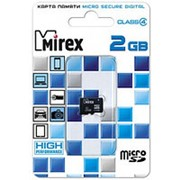 Карта памяти микро SD 2 Гб - Mirex - без адаптера фото