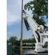 Установка демонтаж столбов, опор лэп фото
