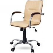 Кресло для руководителя «Капри» хром (пиастра) фото