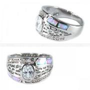 Кольцо Опал в металле 160033 фото