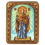 Подарочная икона Божией Матери «Нерушимая Стена» на мореном дубе фото