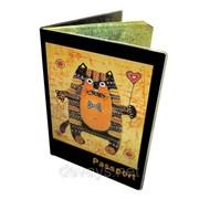 Оригинальная обложка для паспорта Кошак фото
