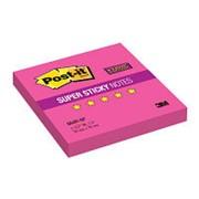 Post-it Super Sticky Блокнот суперклейкий 3M Post-it 654R-SP Super Sticky, 76х76мм, 90л, розовый фото