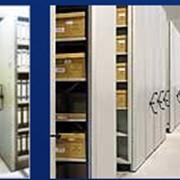 Стеллажи архивные. Система мобильных полочных стеллажей Movibloc. фото