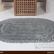 Коврик для ванной Modalin YANA хлопок серый 50х70 фото