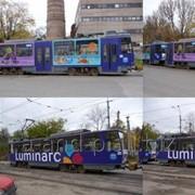 Реклама на транспорте, в маршрутных такси, снаружи и а салонах. фото