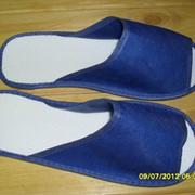 Одноразові тапочки Модель M. Колір синій. фото