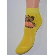 Носки детские лимонные мишка фото