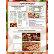Плакат Классификация колбасных изделий Г.17 фото