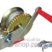 Лебедка рычажная барабанная стальной трос 1000 кг GT1455 фото