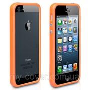 Бампер для iPhone 5/5S, оранжевый фото