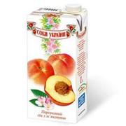 """Персиковый сок торговой марки """"Соки Украины"""" фото"""
