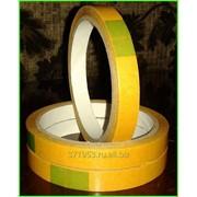 Скотч полипропиленовый 12мм х 10м х 90мкм, двухсторонний прозрачный фото