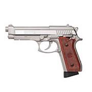Пистолет пневм.Swiss Arms SA92 (Beretta92), к.4,5 мм, металл, блоубэк, 21 шарик, 1,149 кг, 220мм, цвет-нерж, 96 м/с фото