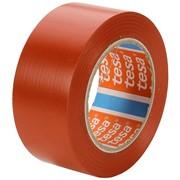 Лента маркировочная tesa, премиум, для разметки, ПВХ основа, 180 мкм, самоклеящаяся, 33 м x 55 мм Красный фото