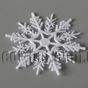 Снежинка пластиковая 7,5 см 570833 фото