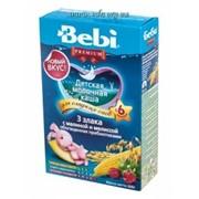 Каша Bebi Premium мол 3 злака с малиной и мелиссой 200г фото