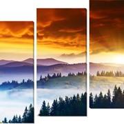 Модульная картина Рассвет в горах , Неизвестен фото